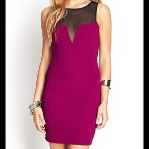 Forever 21 NWT purple bodycon dress - Size Medium